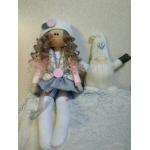 Интерьерная текстильная куколка Тильда